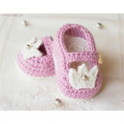 Princess Charlotte Baby Booties