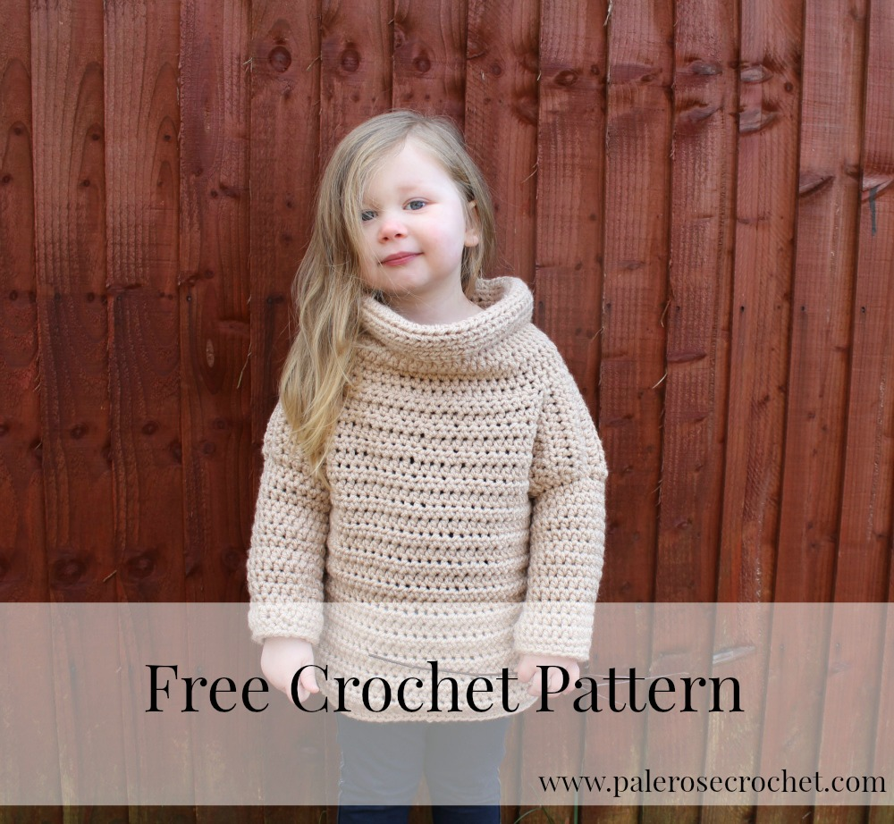Crochet Patterns Galore - Toddler Roll Neck Sweater
