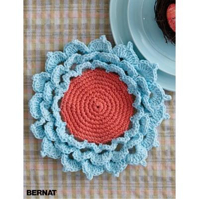 Crochet Patterns Galore Spring Flower Coaster