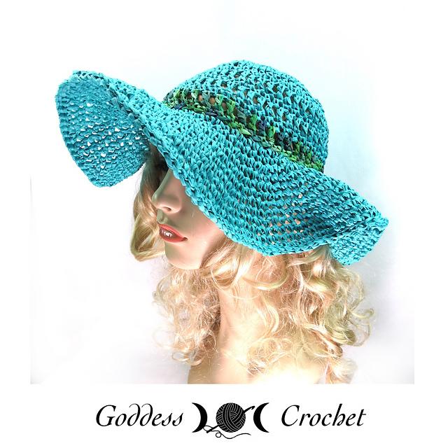 Free Pattern Crochet Wide Brim Hat : Crochet Patterns Galore - Raffia Wide Brim Hat