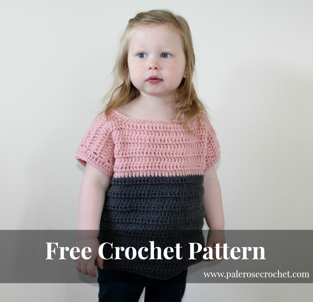 Crochet Patterns Galore - Toddler Two Tone Sweater