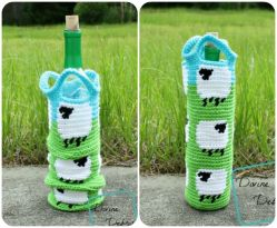Shelia Sheep Bottle Cozy