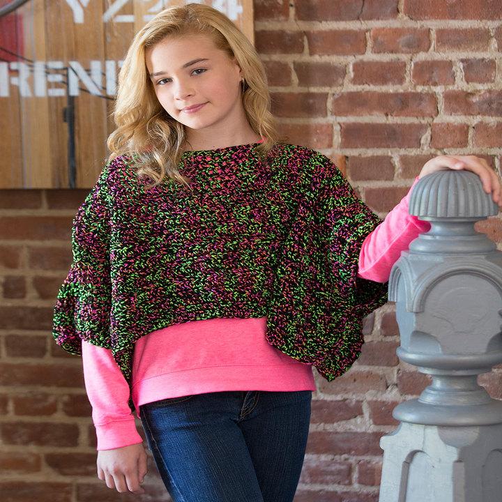 Crochet Patterns Galore Set The Trend Poncho