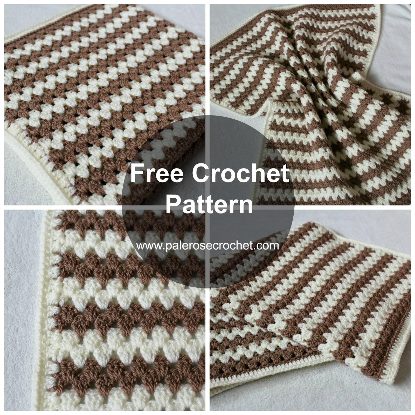 Crochet Granny Stripe Baby Blanket Pattern : Crochet Patterns Galore - Granny Stripe Baby Blanket
