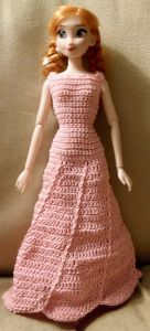 Fashion Doll Swirl Hem Dress