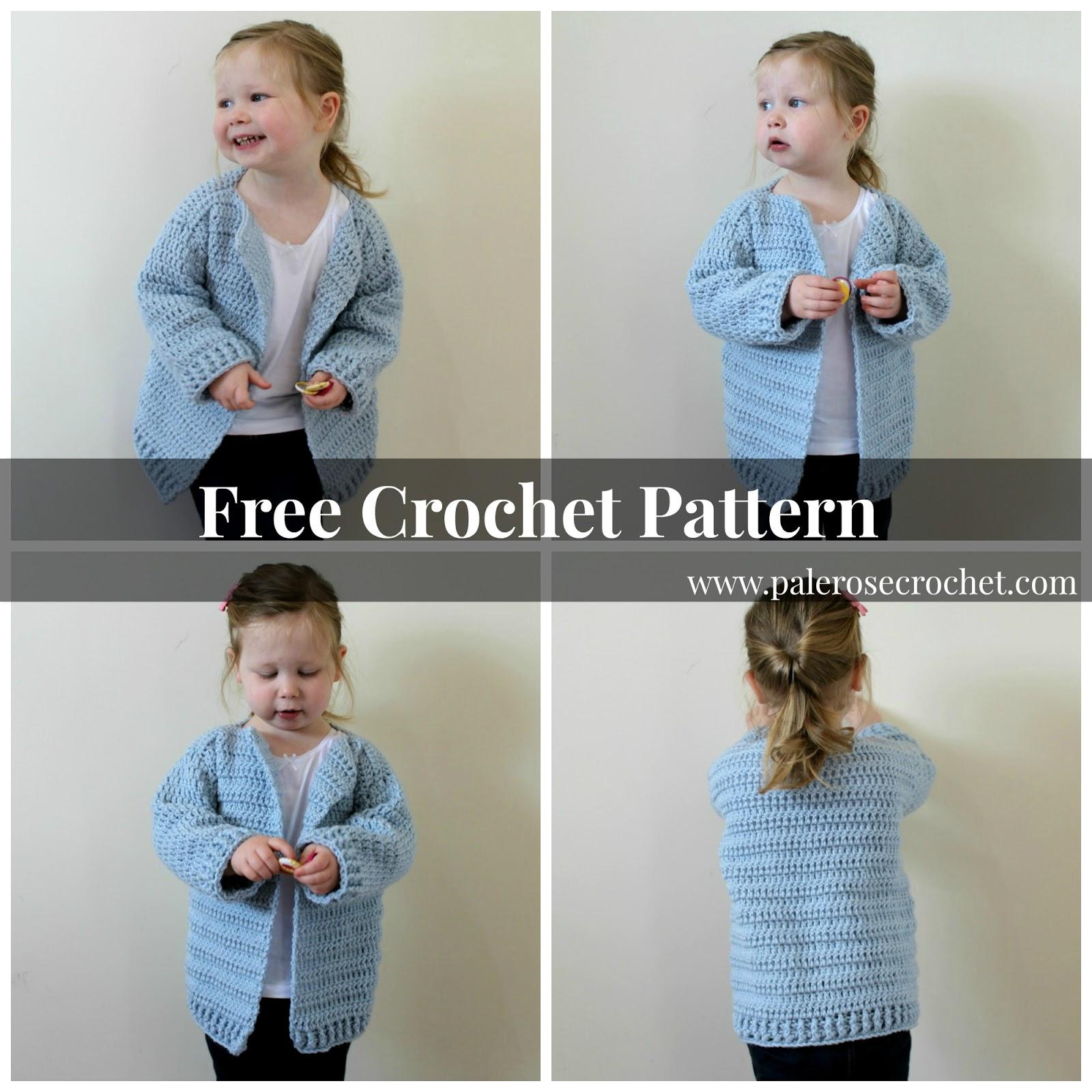 Crochet Patterns Galore Oversized Toddler Cardigan