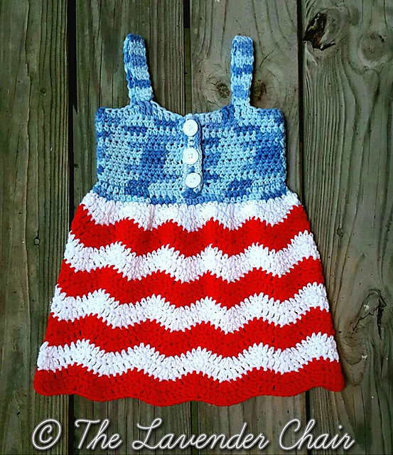 Crochet Patterns Galore Red White And Blue Jean Dress