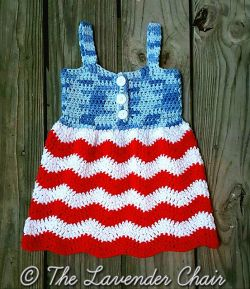 Red White and Blue Jean Dress