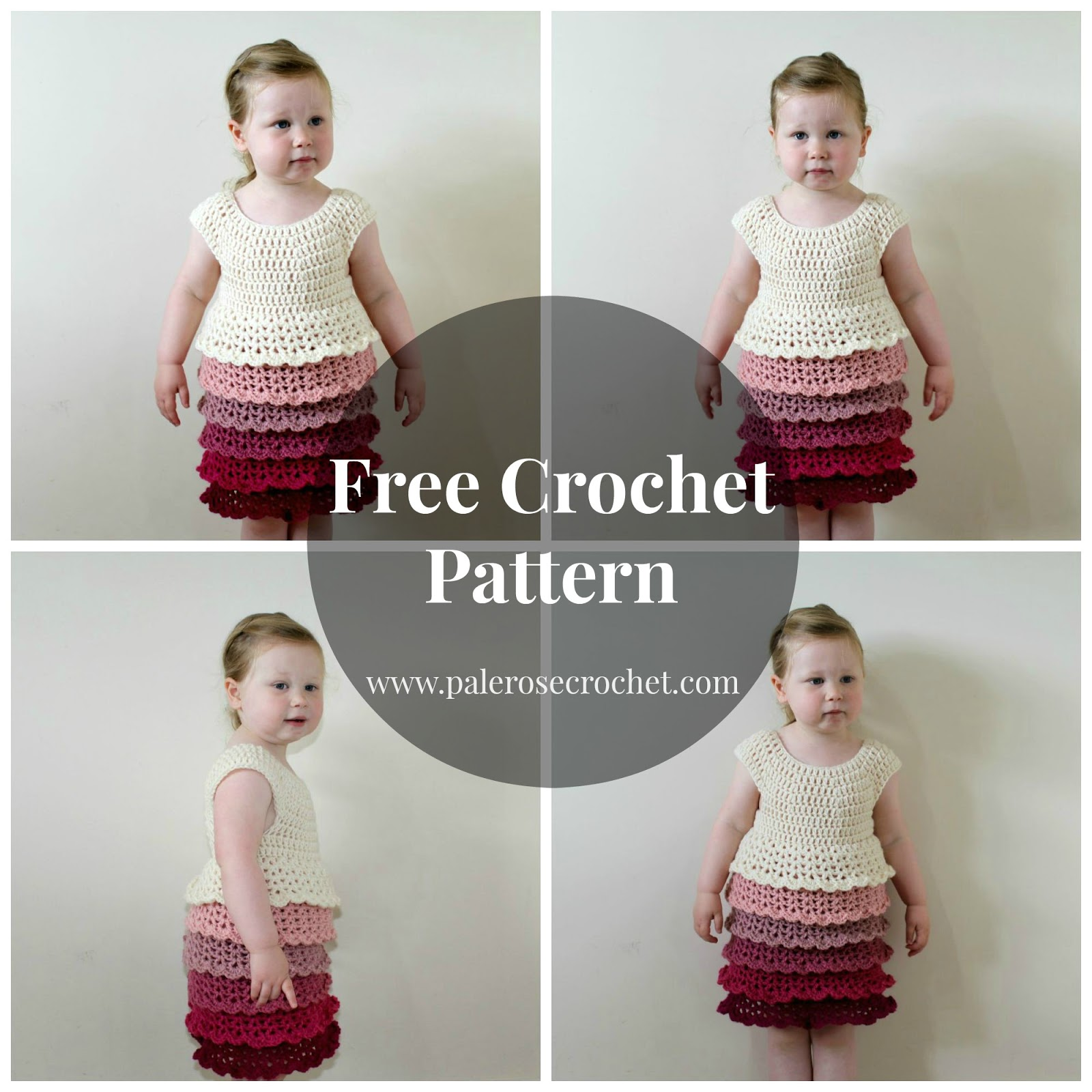 Crochet patterns galore toddler layer frill dress toddler layer frill dress free crochet pattern toddler layer frill dress bankloansurffo Image collections