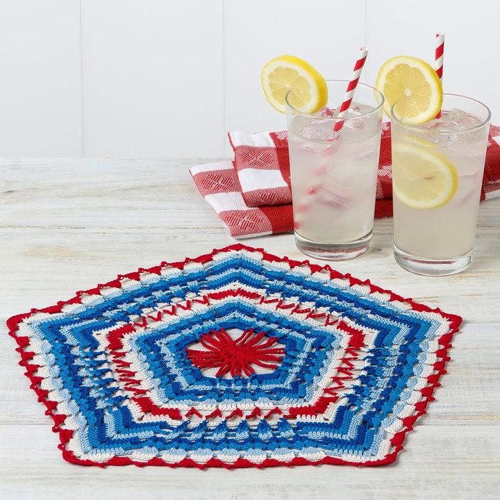 Crochet Patterns Galore Patriotic Pentagon Doily