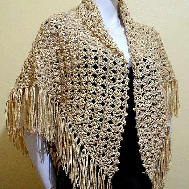 Crochet Patterns Galore - Rosary Prayer Shawl