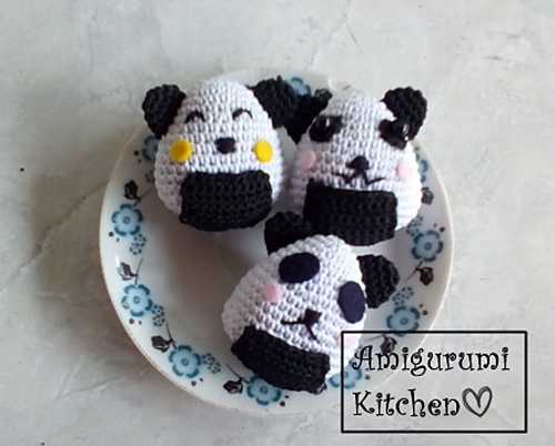 Onigiri and nigiri crochet toys - amigurumi rice ball and sushi ... | 402x500