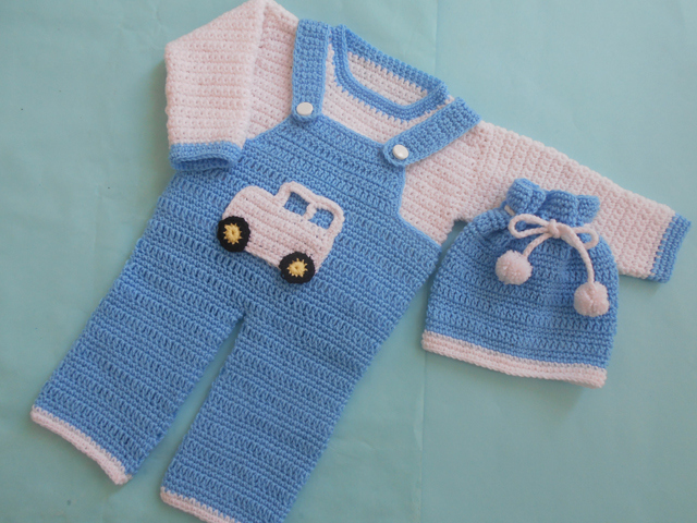 Crochet Patterns Galore - Boy Romper Set