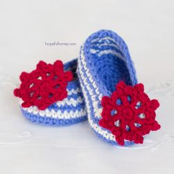 Sailor Baby Booties