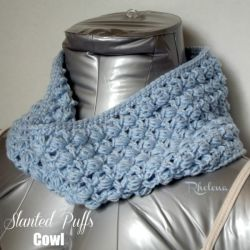 Slanted Puffs Cowl