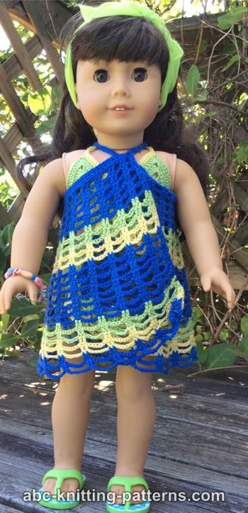 Crochet Patterns Galore American Girl Doll Beach Cover Up