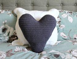 Crochet Patterns Galore Chunky Heart Cushion