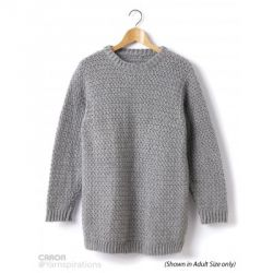 Child's Crochet Crew Neck Pullover