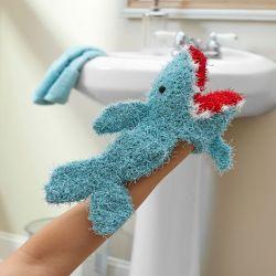 Crochet Patterns Galore Shark Puppet Scrubby