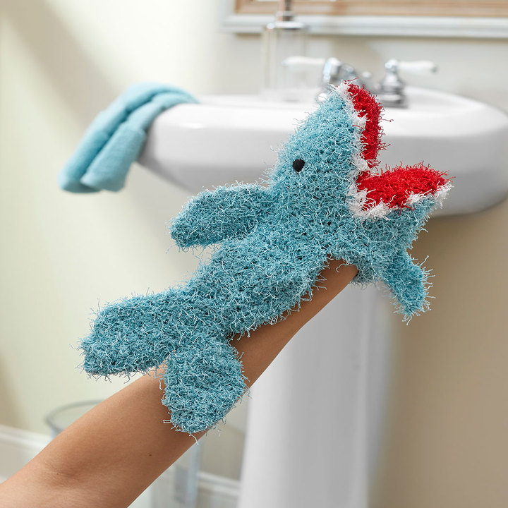 Crochet Patterns Galore Shark Puppet Scrubby