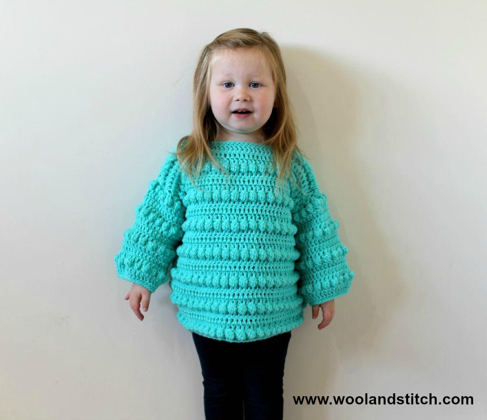Crochet Patterns Galore Mini Kids Bobble Sweater