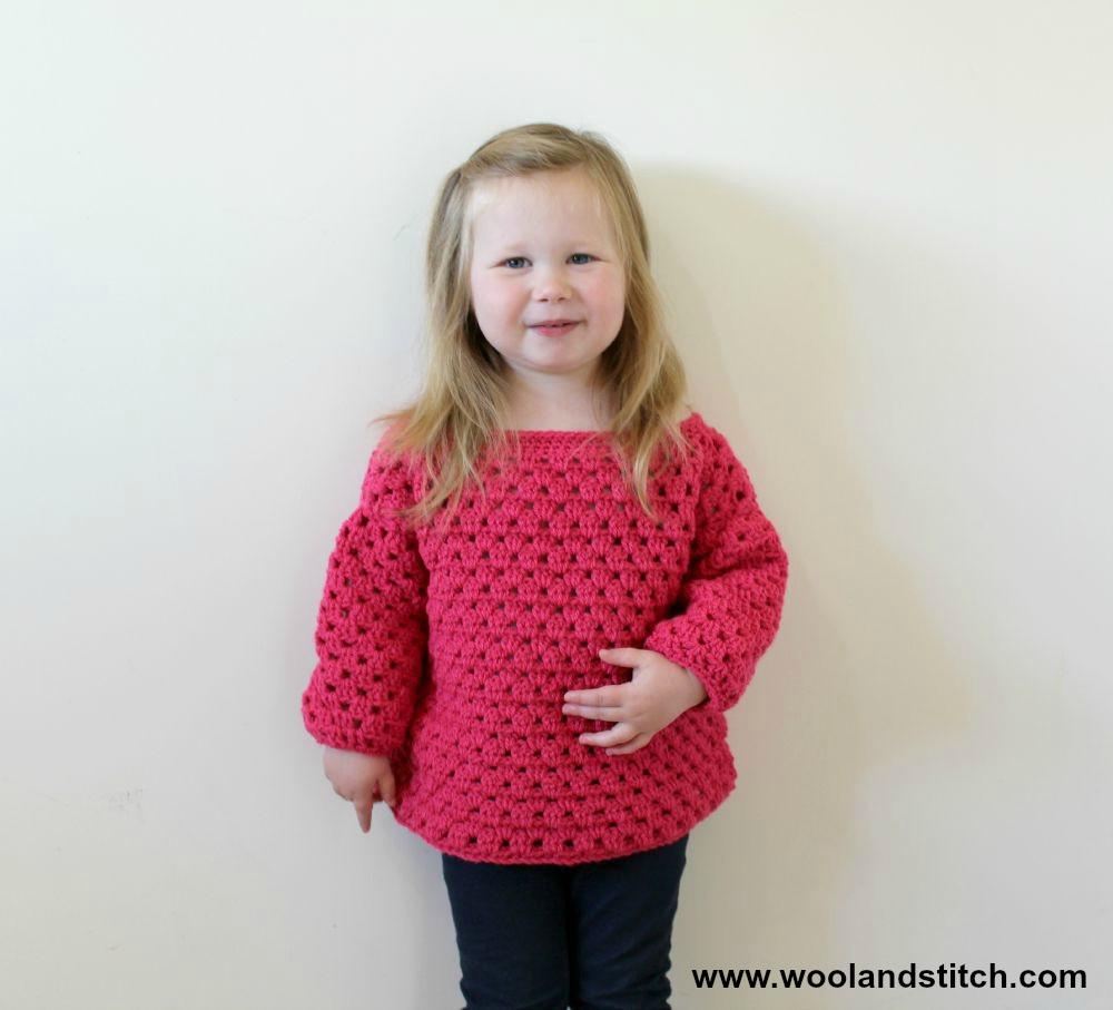 Crochet Patterns Galore - Mini Kids Granny Stripe Sweater