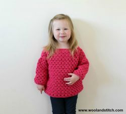 Mini Kids Granny Stripe Sweater