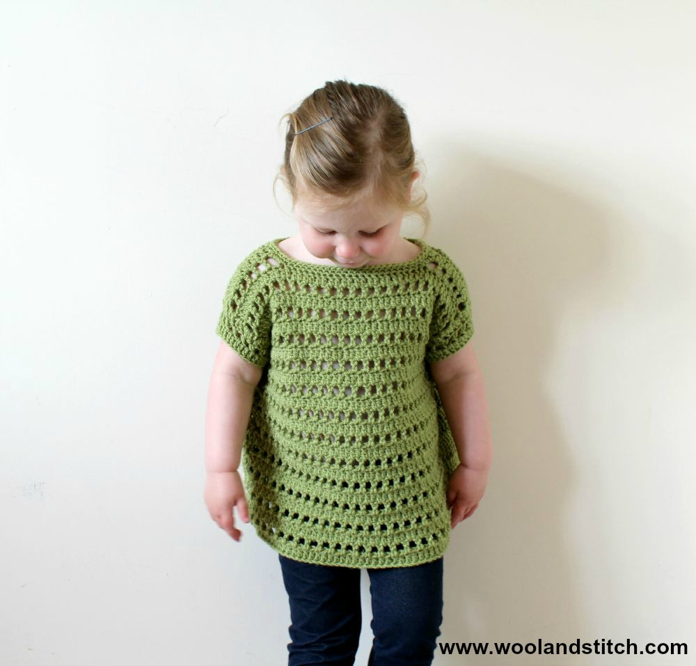 Crochet Patterns Galore - Mini Kids Open Work Top