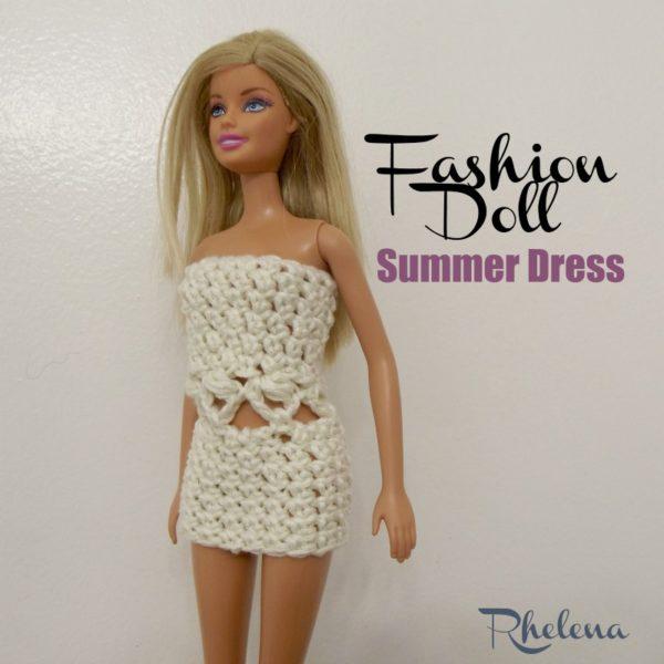 Crochet Patterns Galore Fashion Doll Summer Dress
