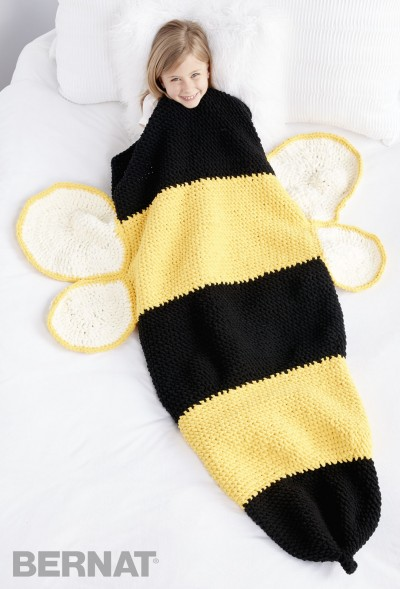 Crochet Patterns Galore Bumble Bee Crochet Snuggle Sack