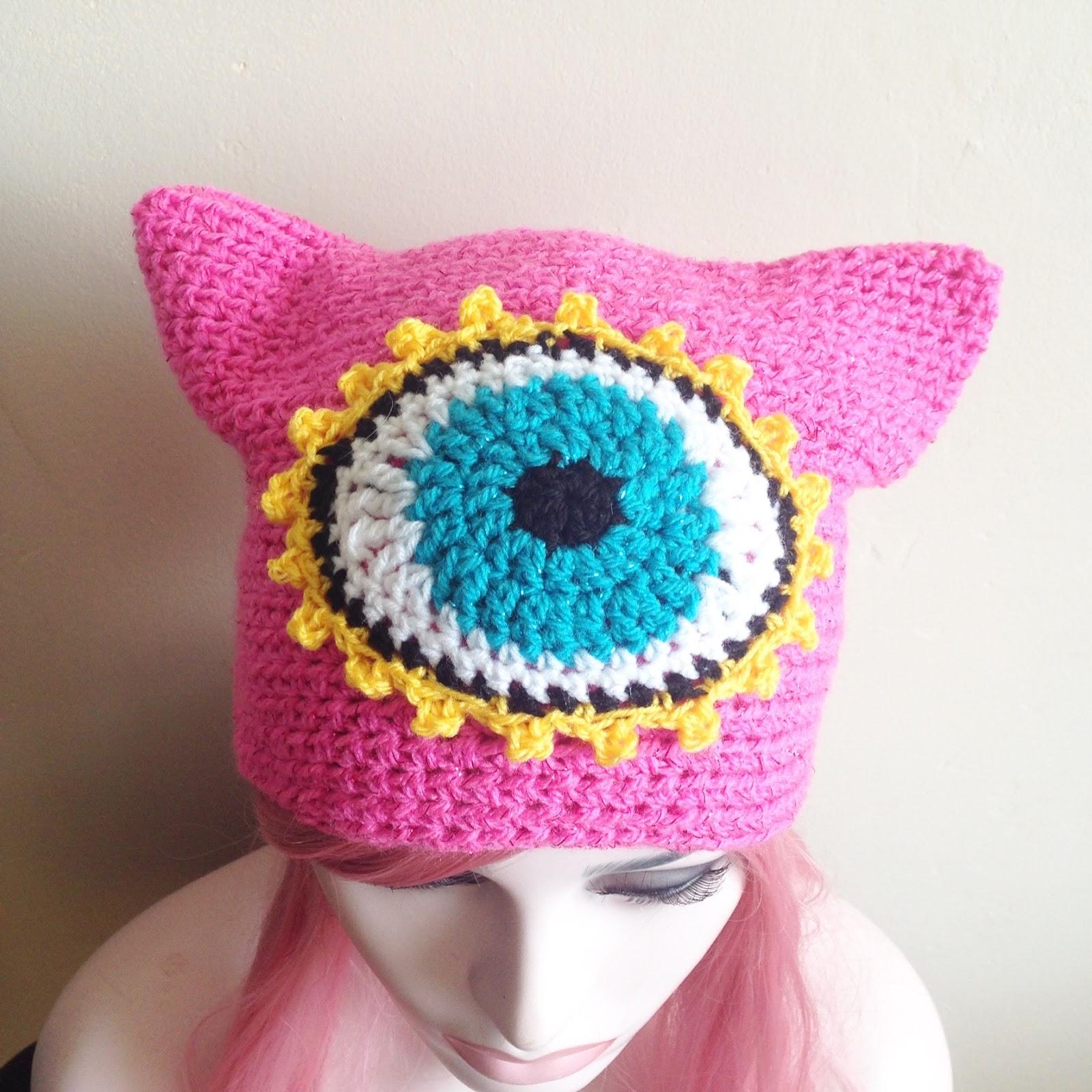 Crochet Patterns Galore - Third Eye Kitty Beanie