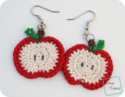 Apple/ Pumpkin Earrings