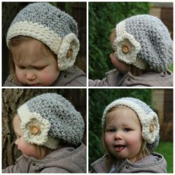 Mini Kids Flower Slouchy