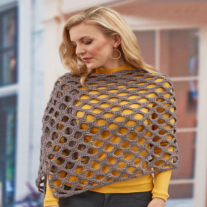 Crochet Patterns Galore Simones Open Wave Shawl