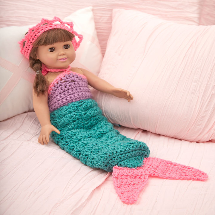 Crochet Patterns Galore Mermaid Doll Outfit