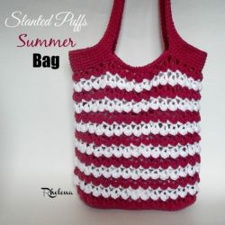 Slanted Puffs Summer Bag