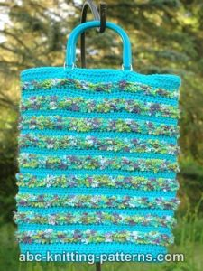 Caribbean Beaches Crochet Tote Bag