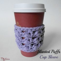 Slanted Puffs Cup Sleeve