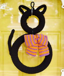 Superstitious Black Cat Wreath