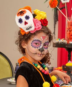 Sugar Skull Child's Headpiece