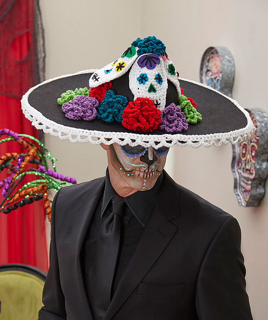 Crochet Patterns Galore Sugar Skull Mens Hat