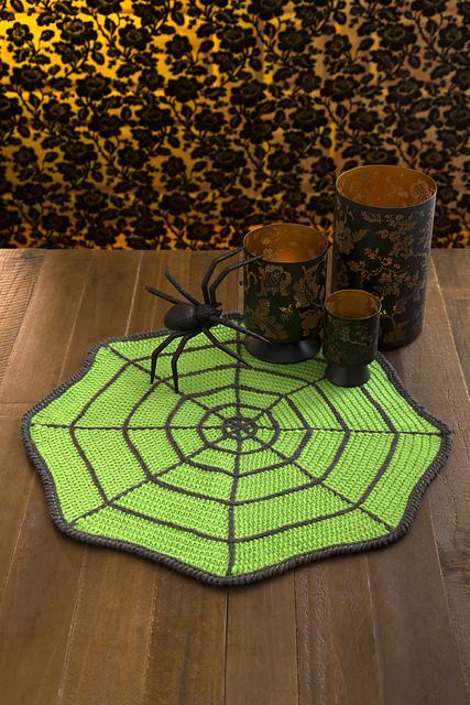 Crochet Patterns Galore Spider Web Table Mat