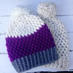 Adult Puff Stitch Beanie