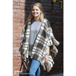 Plaid Blanket Crochet Poncho