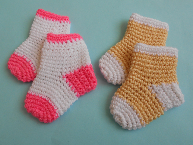 Crochet Patterns Galore Baby Socks