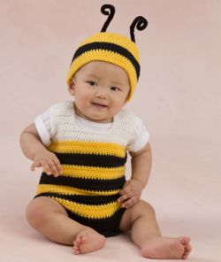 Little Baby Bee Playsuit & Hat