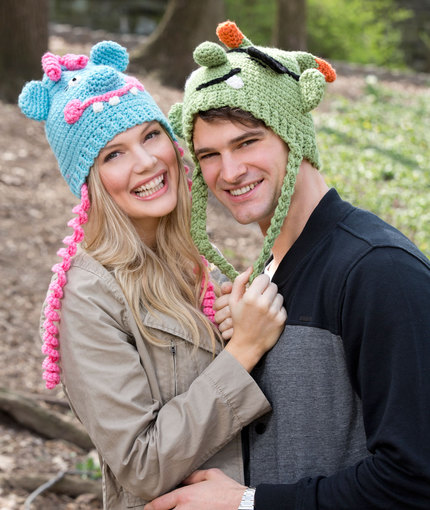Crochet Patterns Galore Lovable Monster Hats