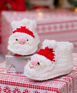 Child's Santa Slippers