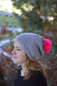 Autumn Frost Slouchy Hat