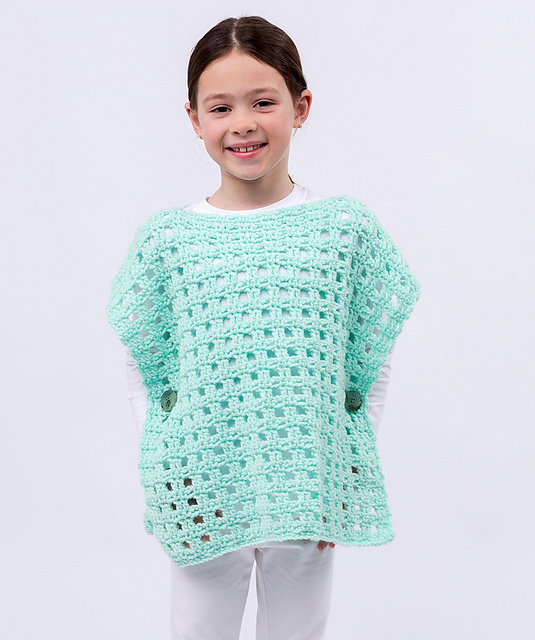 Crochet Patterns Galore Simply Stated Child Poncho